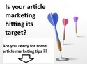 article marketing 2012