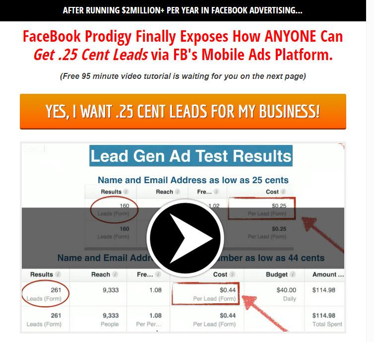 FB Mobile Lead Gen Ads